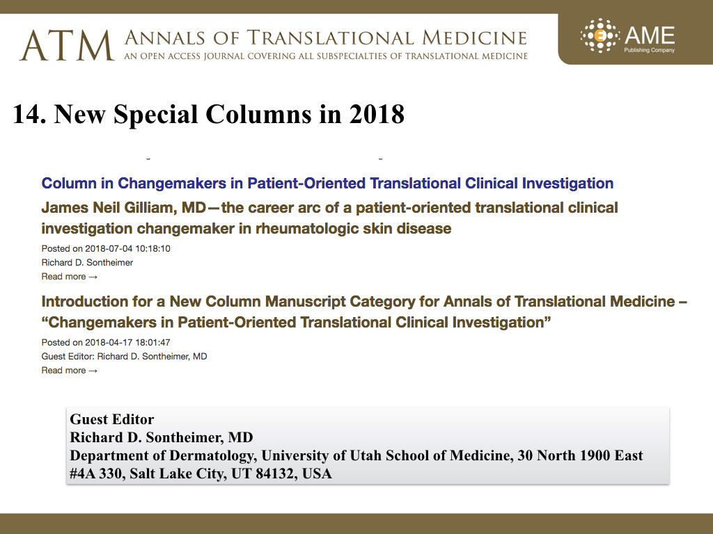 ATM Annual Report 2018 - Annals of Translational Medicine