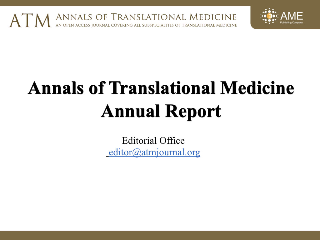 Home - Annals of Translational Medicine