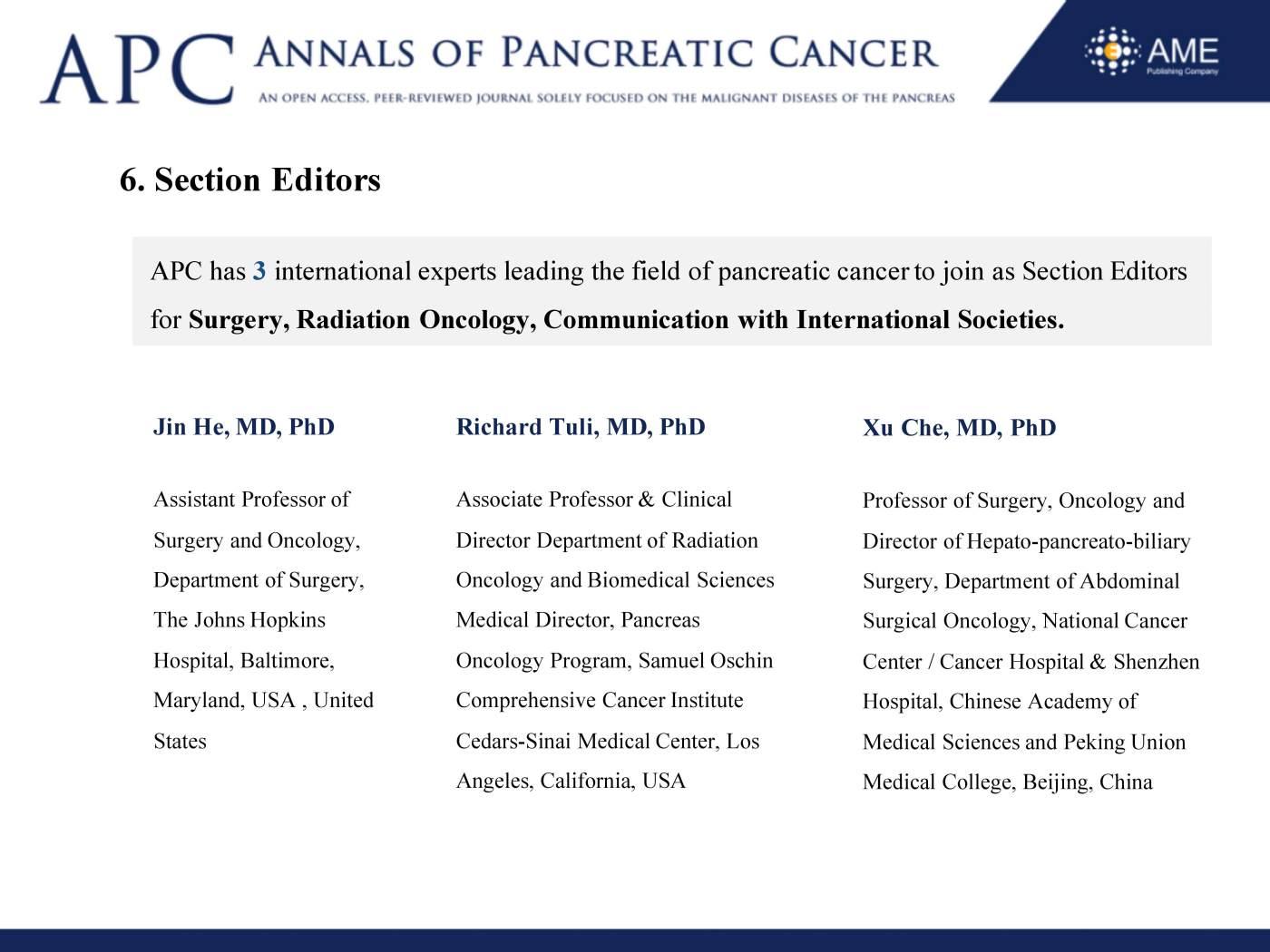 APC Annual Report 2018 - Annals of Pancreatic Cancer