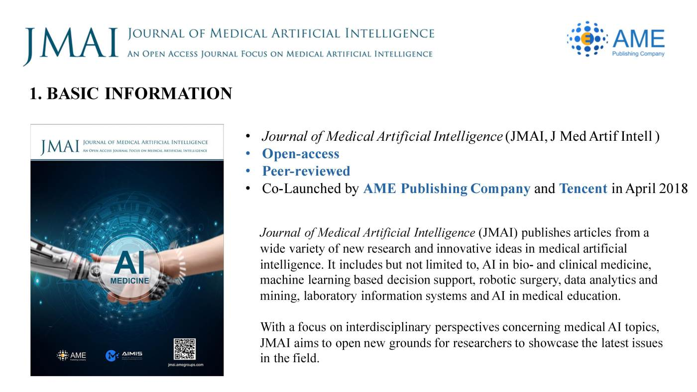 JMAI Annual Report 2018 - Journal of Medical Artificial