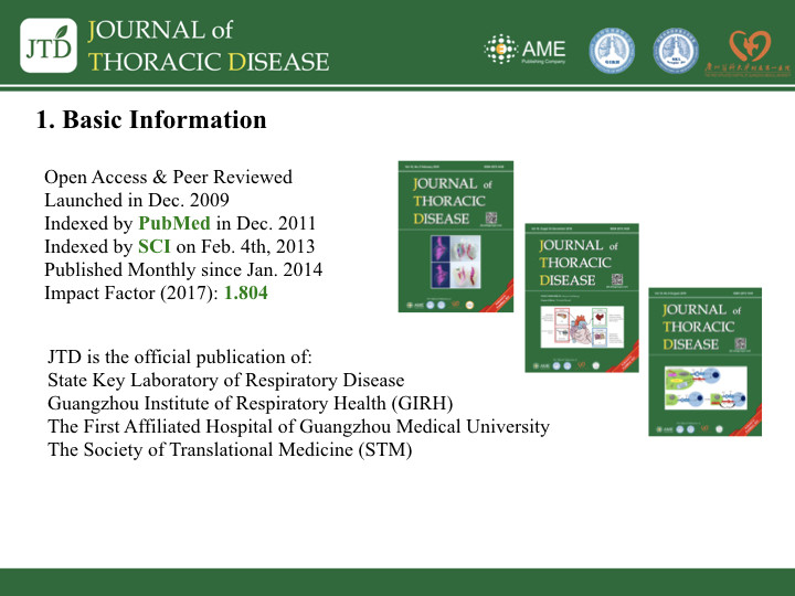JTD Annual Report (2018) - Journal of Thoracic Disease