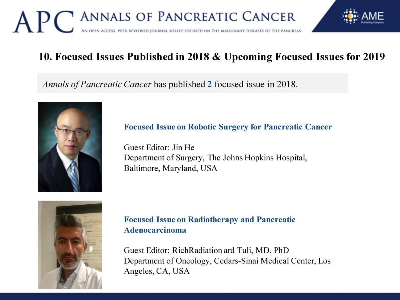 APC Annual Report 2018 - Annals of Pancreatic Cancer